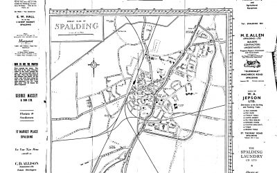 BURROW'S POINTER GUIDE MAP of Spalding 1960 ish?