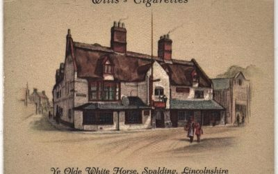 Wills's Cigarette card of Ye Old White Horse
